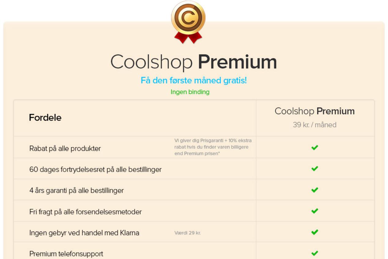 Coolshop kundeklub