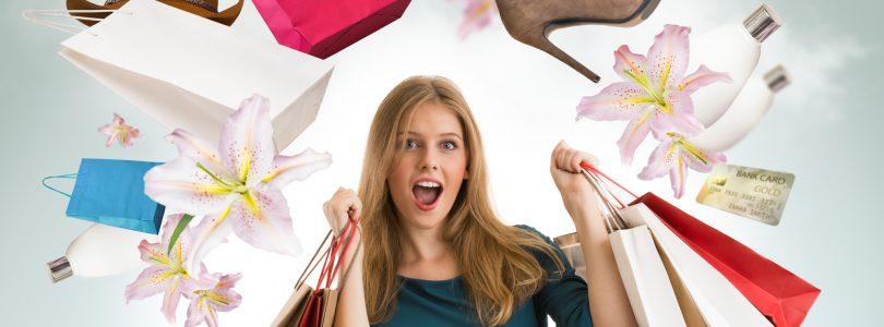 Kvinde på shopping